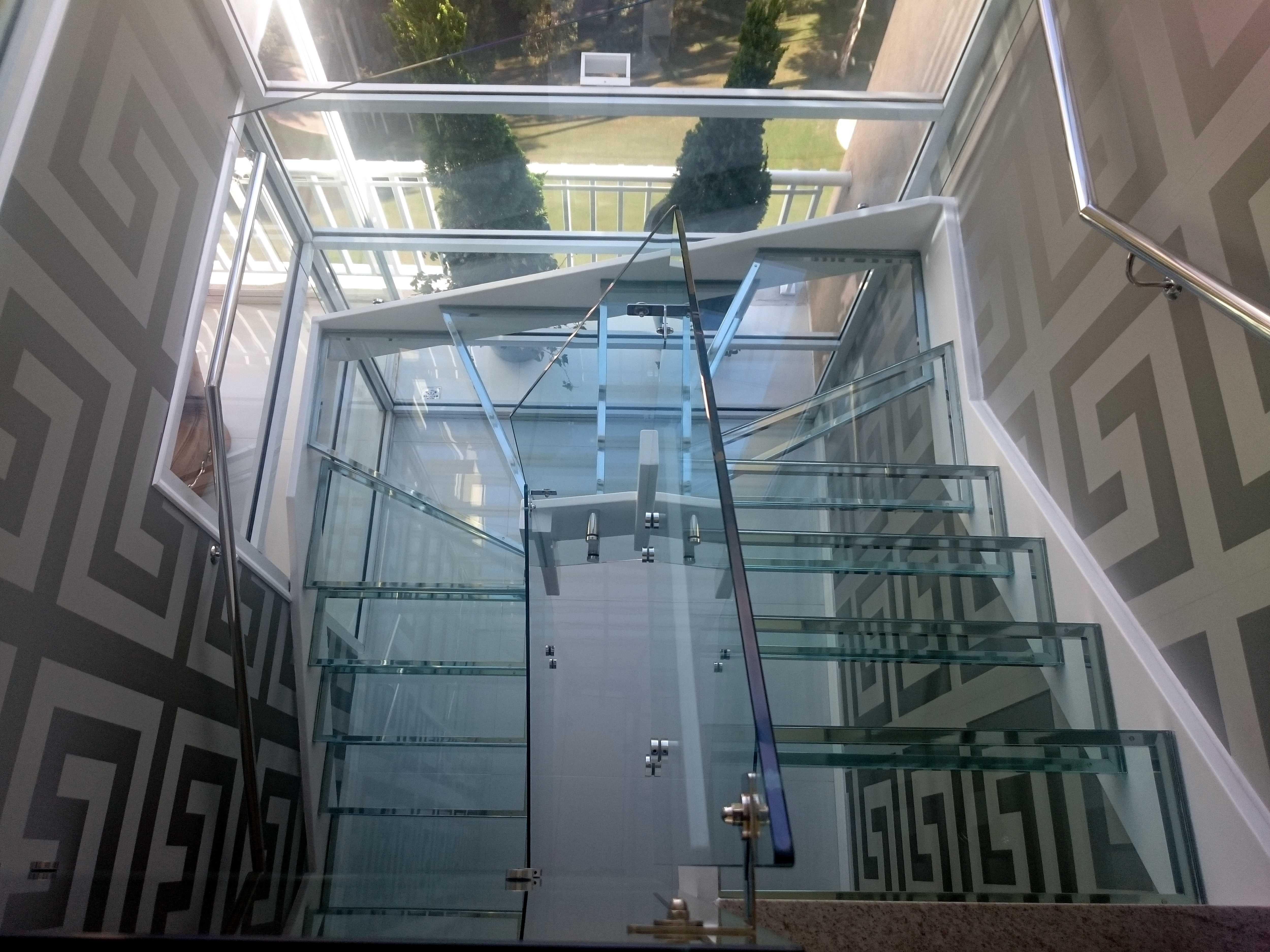 Escada de vidro Primor Inox