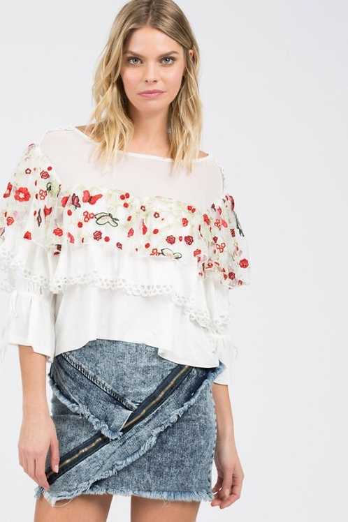 Ivory Butterfly Blouse