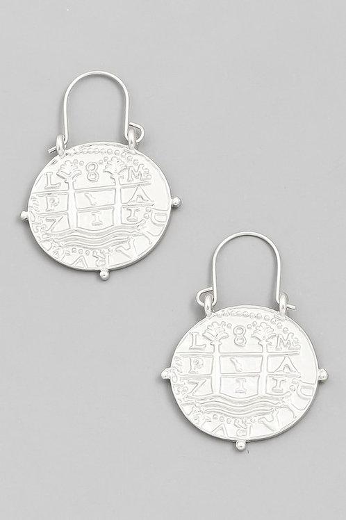 Ancient Peruvian Coin Earrings