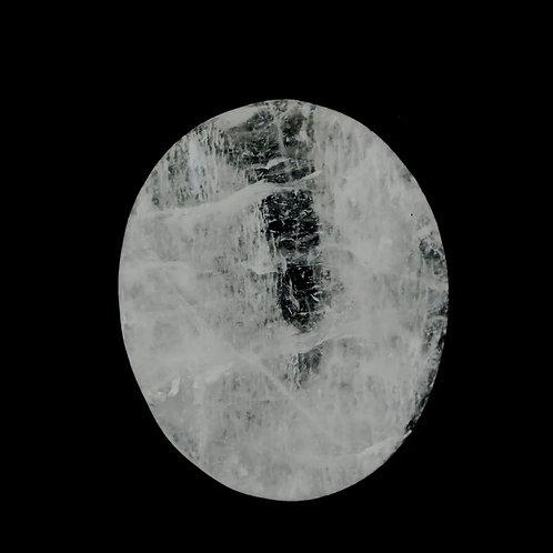 Clear Quartz Moonstone Worry Stone