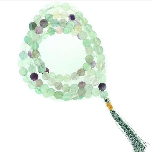 Fluorite Japa Mala Prayer Beads-8mm