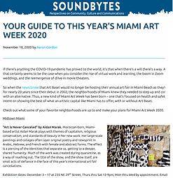 Soundbytes Art Week 2020