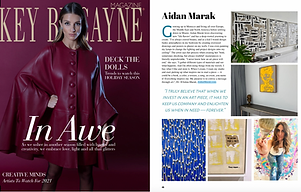 Aidan Marak feature in Key Biscayne Magazine