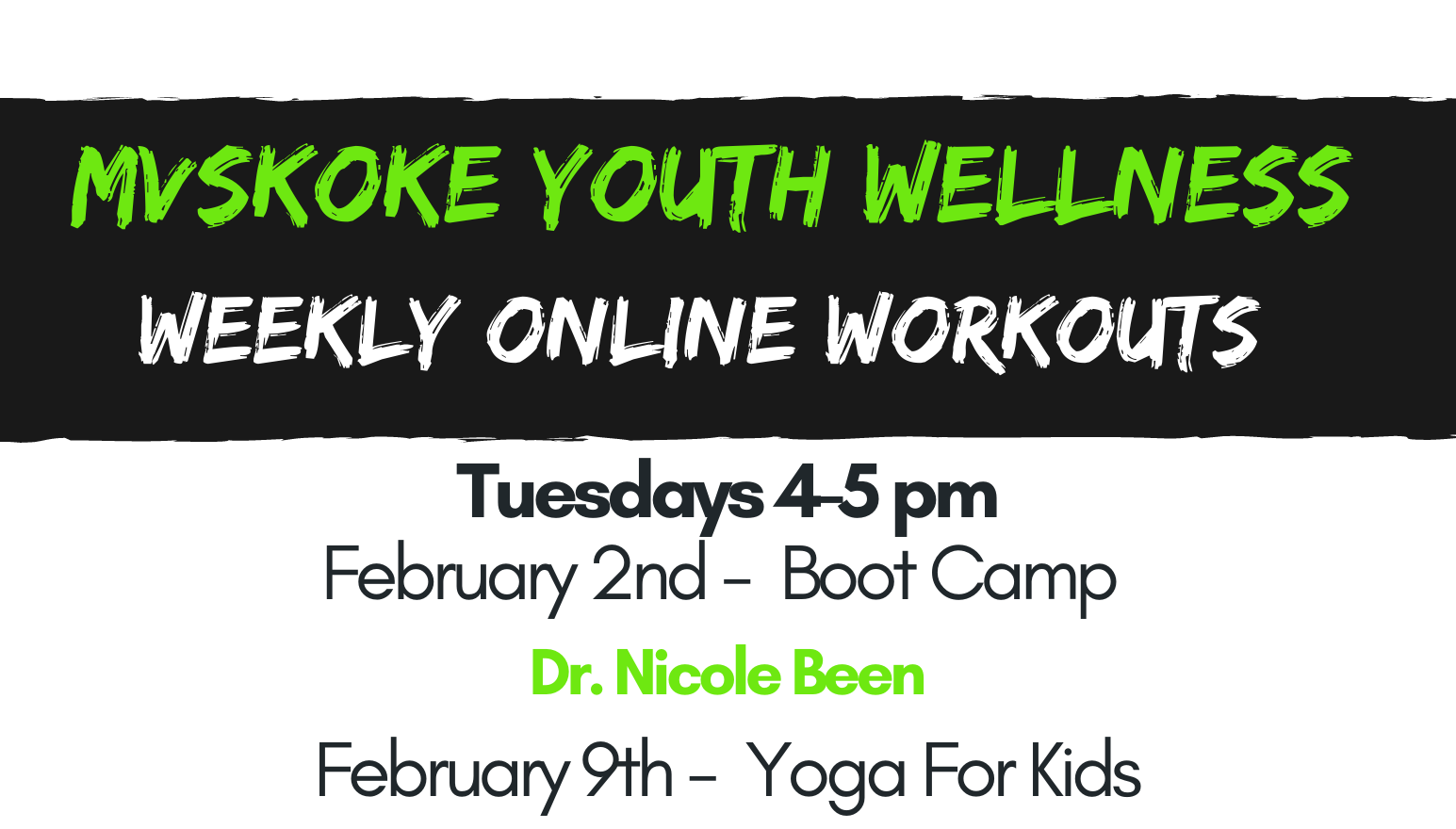 MY Wellness February Weekly Online Workouts