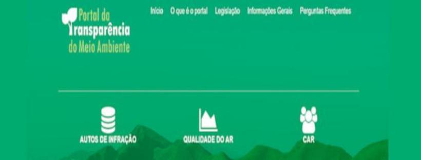Portal da transparência do Meio Ambiente reúne informações sobre diversas temáticas