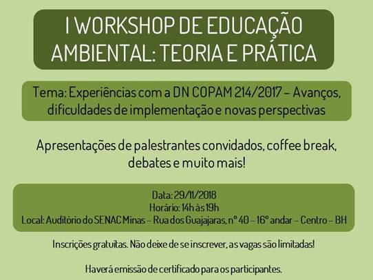 I Workshop de Educação Ambiental: Teoria e Prática