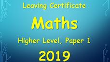 leaving cert higher level maths paper 1 2019 solutions