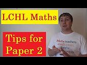 tips for leaving cert higher level maths paper 2