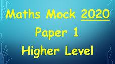 deb maths mock leaving cert higher level maths 2020 paper 1