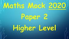 deb maths mock leaving cert higher level maths 2020 paper 2