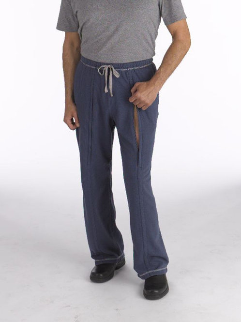 Men's Classic Zip Pant for Femoral Port or Urinal Access