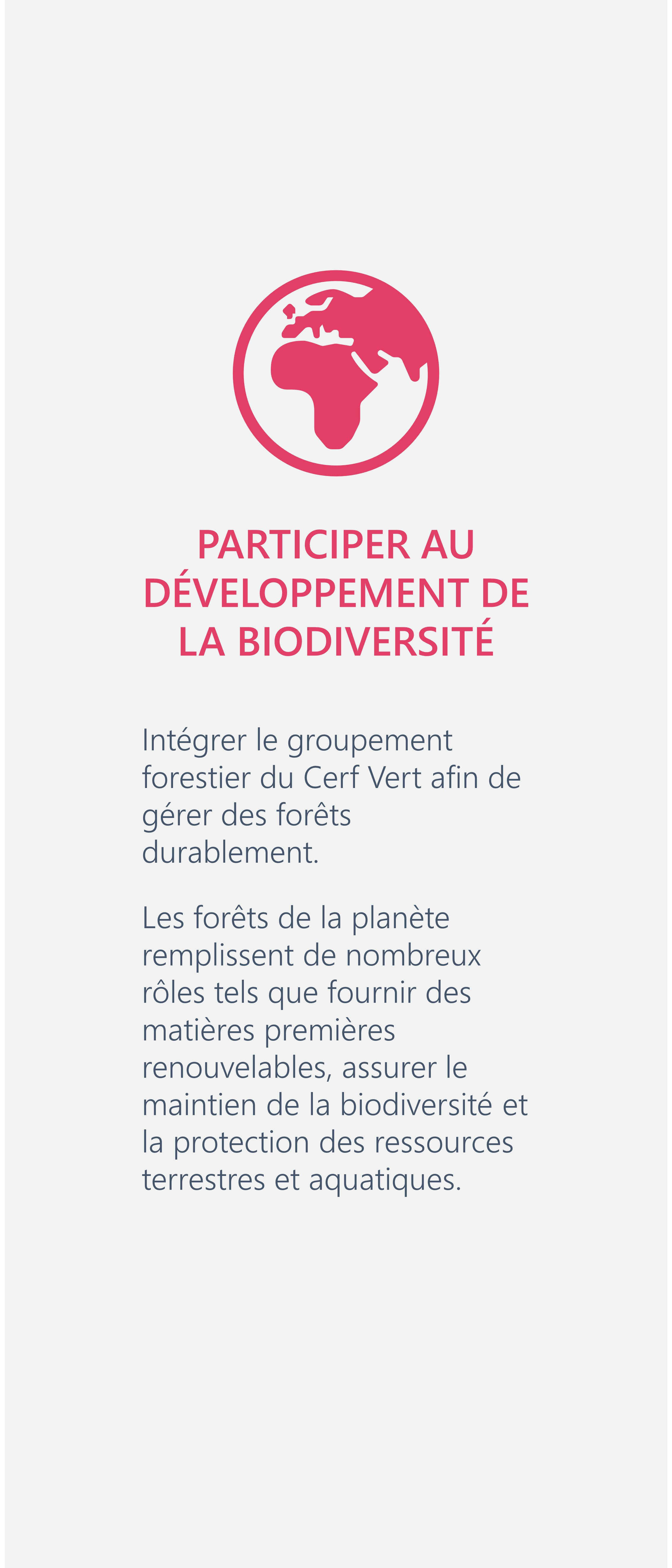 Participer groupement forestier développement biodiversité