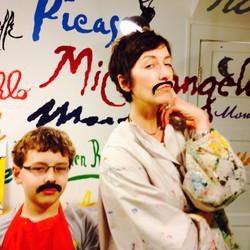 Artist moustachios!