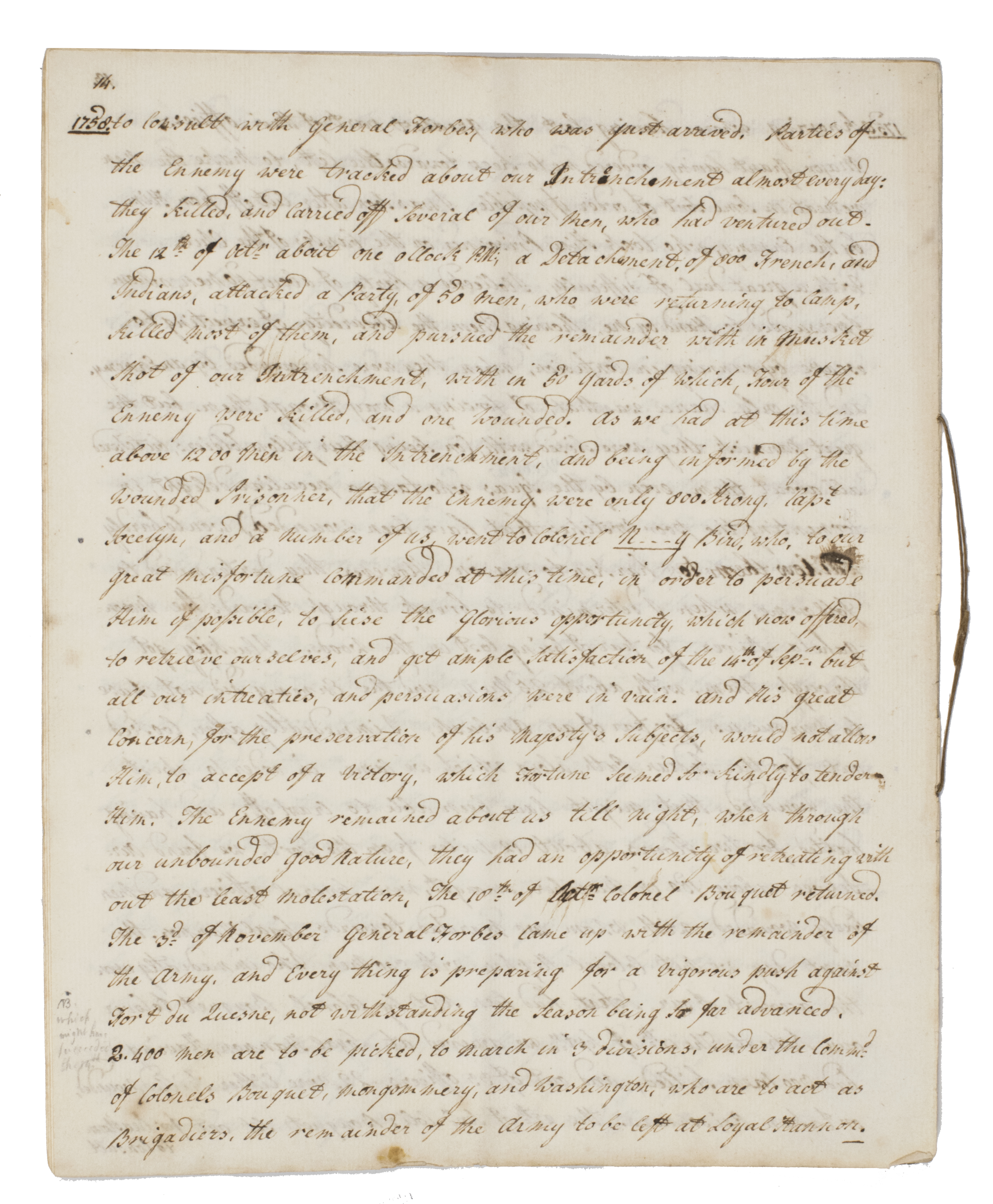 Lieutenant Rudolph Bentinck's Journal of