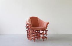 Chris Schanck_Stuffed_Shell_Chair_Copper_Friedman Benda