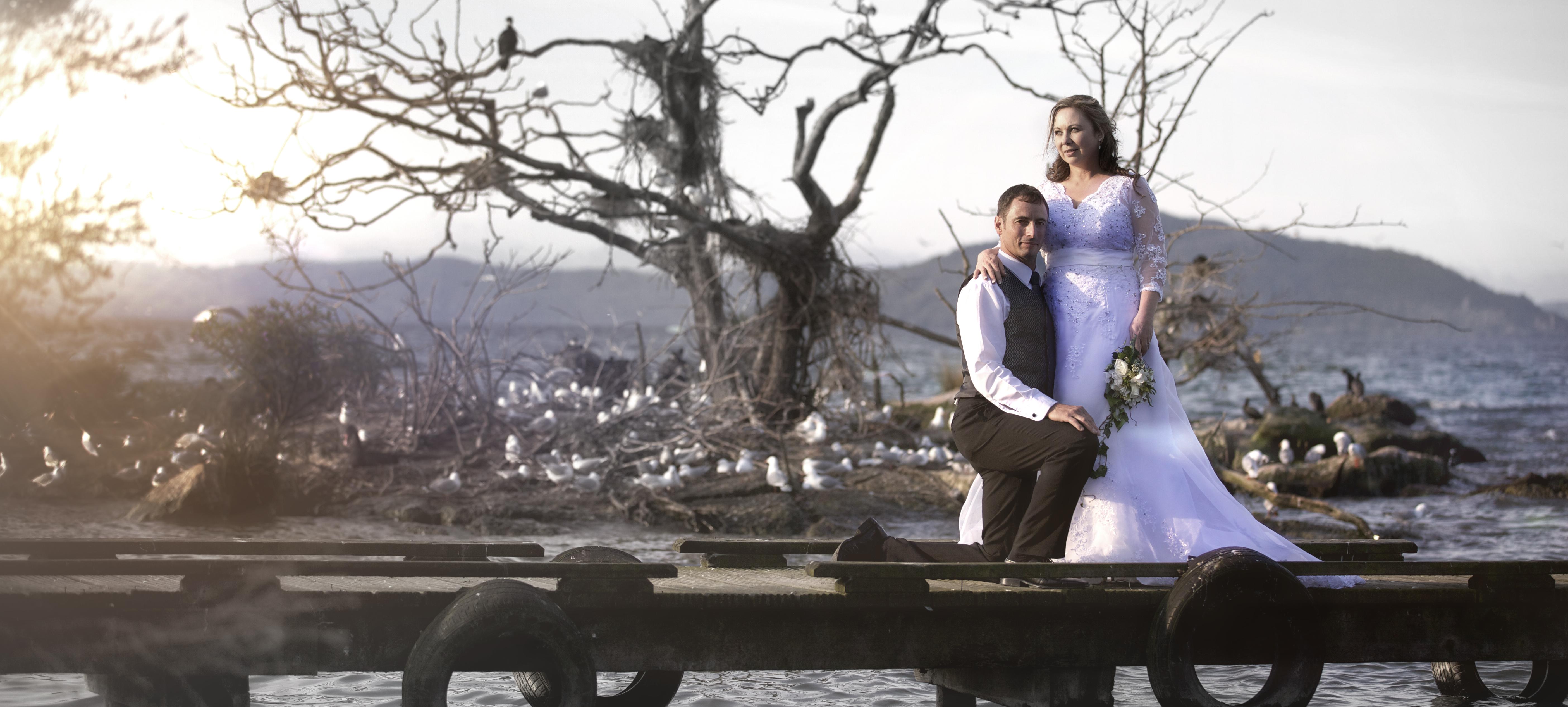 Lake rotorua wedding
