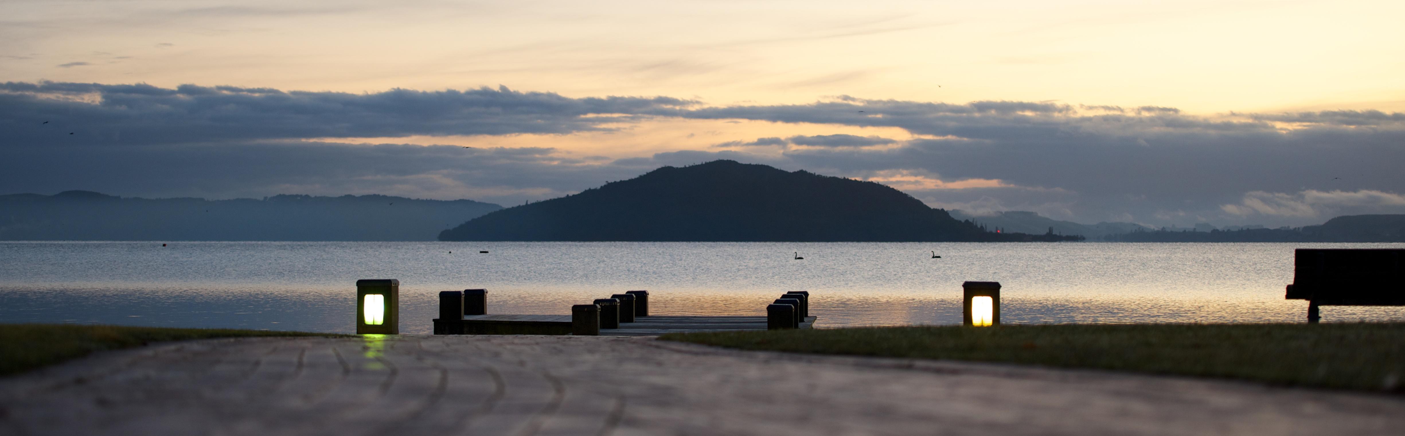 Morning Rotorua Lake Front