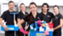 Our cleaners are fully trained, uniformed and well presented, are police cleared, fully insured, provide cleaning products