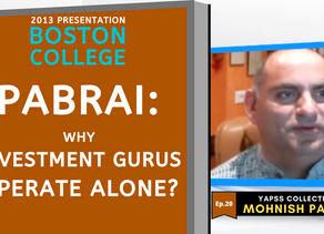 Collection: Mohnish Pabrai - #20 'Why Investment Gurus Operate Alone?'