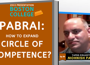 Collection: Mohnish Pabrai - #30 'How To Expand Circle of Competence?'