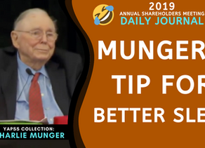 Collection: Charlie Munger - #66 'Tip For Better Sleep'