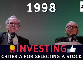 Collection: Warren Buffett - #96 Investing 'Criteria For Selecting A Stock '