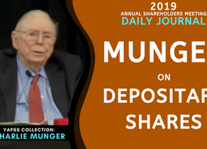 Collection: Charlie Munger - #62 'Depositary Shares'