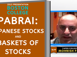 Collection: Mohnish Pabrai - #43 'Japanese Stocks and Baskets of Stocks'