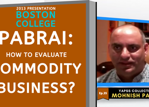 Collection: Mohnish Pabrai - #35 'How To Evaluate Commodity Business?'