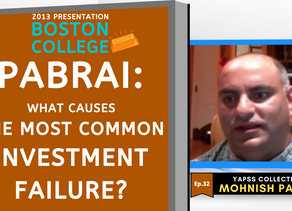 Collection: Mohnish Pabrai - #32 'What Causes The Most Common Investment Failure?'