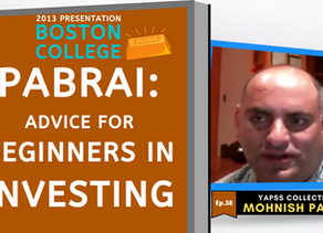 Collection: Mohnish Pabrai - #38 'Advice For Beginners In Investing'