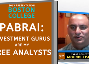 Collection: Mohnish Pabrai - #21 'Investment Gurus Are My Free Analysts'