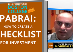 Collection: Mohnish Pabrai - #33 'How to Create a Checklist For Investment'