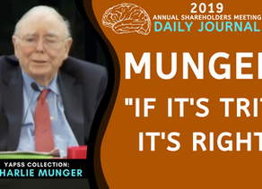 Collection: Charlie Munger - #56 'If It's Trite It's Right'