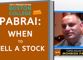 Collection: Mohnish Pabrai - #40 'When To Sell A Stock'