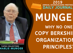 Collection: Charlie Munger - #44 'Why No One Copy Berkshire's Organizational Principles?'