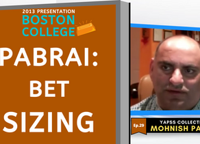 Collection: Mohnish Pabrai - #29 'Bet Sizing'