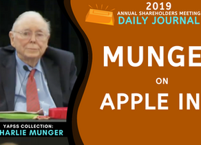 Collection: Charlie Munger - #49 'Apple Inc.'