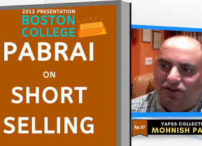 Collection: Mohnish Pabrai - #37 'Short Selling'