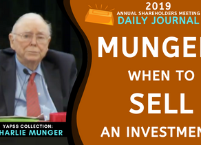 Collection: Charlie Munger - #48 'When to Sell an Investment?'