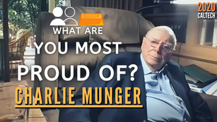 Collection: Charlie Munger - #116 'What Are You Most Proud Of?'
