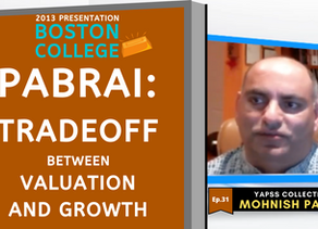 Collection: Mohnish Pabrai - #31 'Tradeoff Between Valuation and Growth'