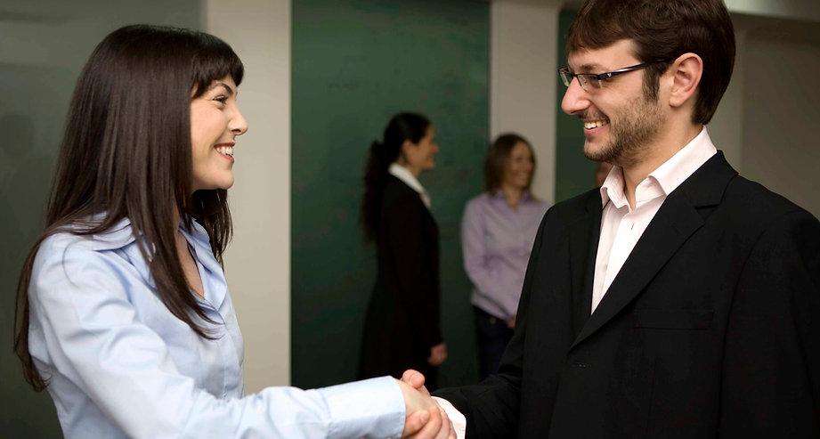 Lächeln Handshake