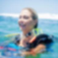 Plongeur heureux