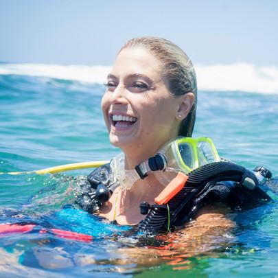 Feliz mergulhador