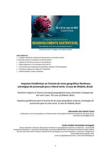 Impactos Pandêmicos ao Turismo de zonas geográficas litorâneas, estratégias de prevenção para o litoral norte. O caso de Ilhabela, Brasil.