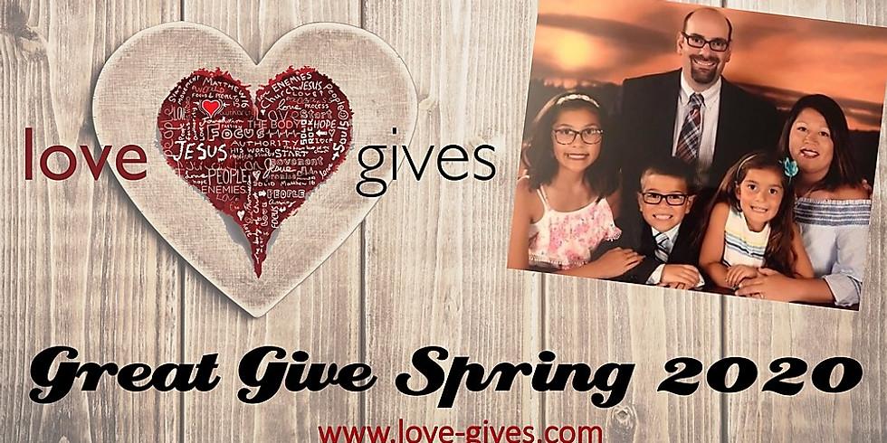 Love Gives Envelopes for Santiago