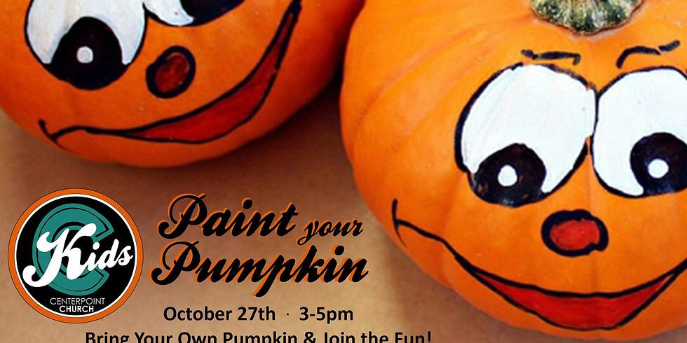 Paint a Pumpkin Kids Event