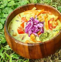 Thai zöldséges curry