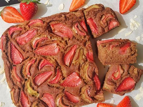Strawberry rhubarb cake / Mindenmentes epres rebarbarás süti